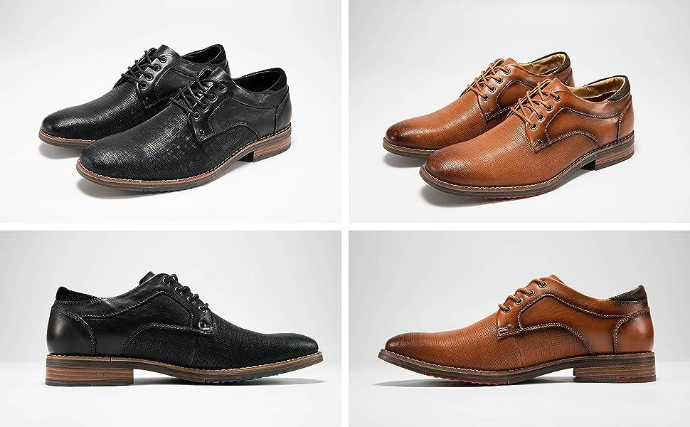 Men's Leather Dress Oxford Derbys Shoes
