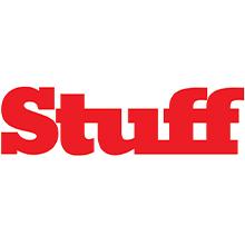stuff, logo, red, white