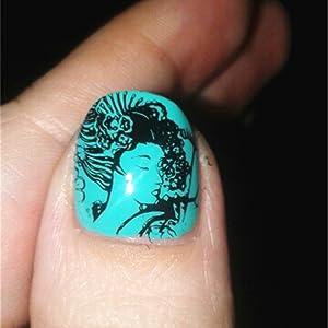 Nail Art Stamping Template Flower Lip Kiss Japanese style DIY Image Nail Stamping Plate