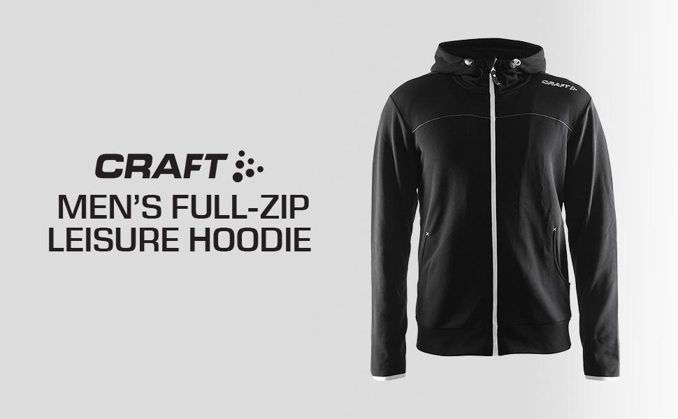 Craft Womens Leisure Full Zip Training Athletic Hooded Jacket