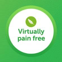 virtually pain free