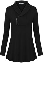 blouses for women tops winter fall clothes long sleeve loose fitting tunics shirts Christmas tee