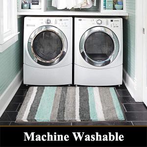 bath mats machine washable