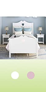 twin bed for girls bed frame white pink bed for girl bed wood