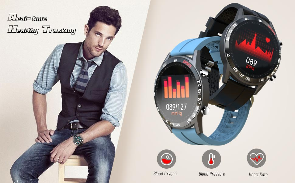 Heart Rate monitor, Blood Pressure Monitor, Blood Oxygen