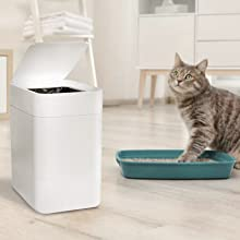 automatic white new motion sensor lid electric garbage dustbin auto odor proof hands free touch