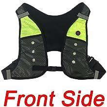 reflective vest with led lights for dog walking