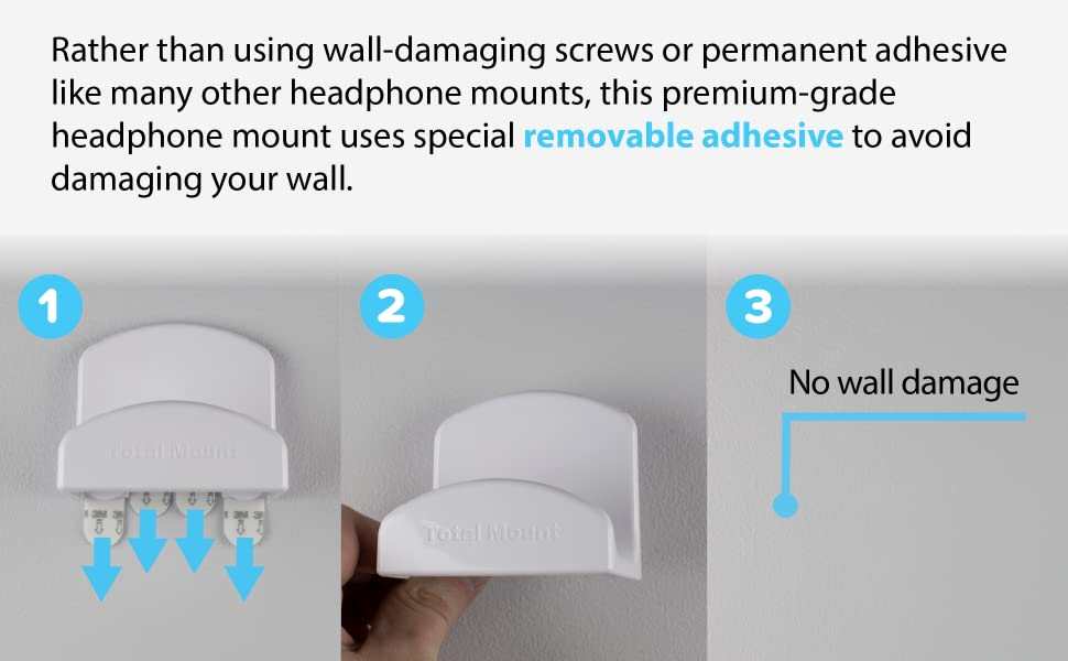 TotalMount for Headphones – Will Not Damage Your Wall