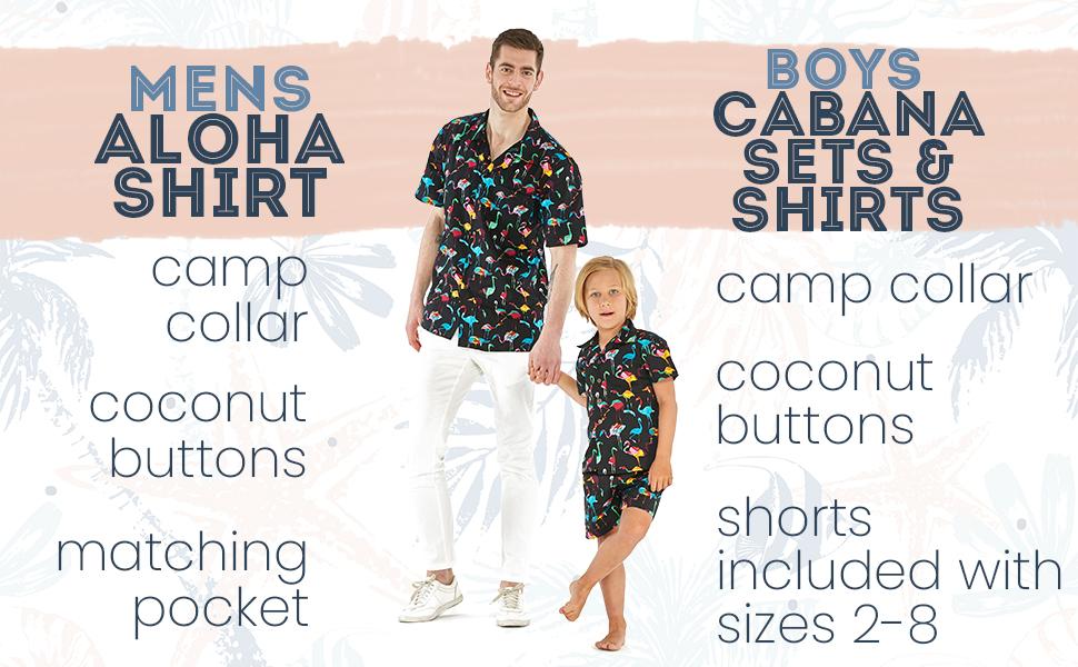 Hawaii Hangover Hawaiian Father Son Matching Set Aloha Shirt Cabana Set