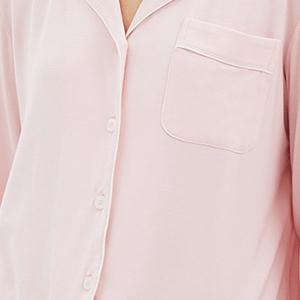 Contrast Piping modal cotton pajama sets