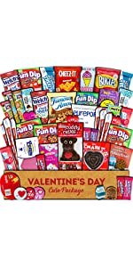 valentines day gift care package box chocolates candy love hearts boyfriend girlfriend college kid