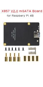 raspberry pi X857 mSATA SSD shield