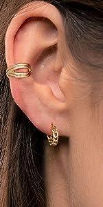 chain link hoops earring