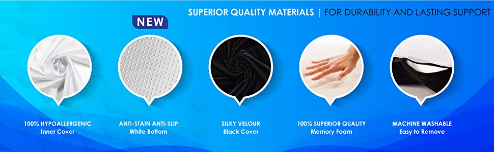 Superior quality materials for durability and lasting support.