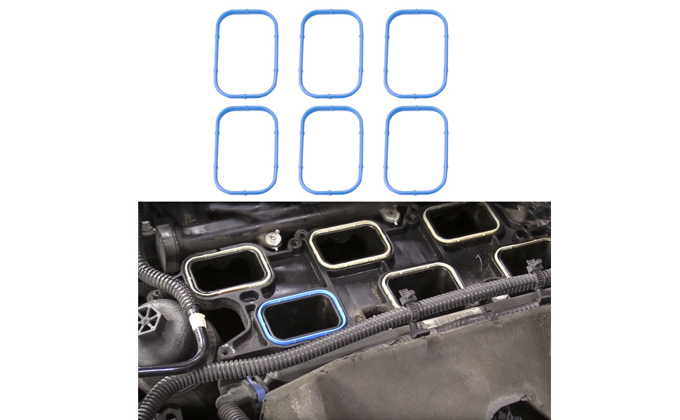 5184562AC MS97204 Replaces# 5184331AC Replacement for 3.6L 2011-2020 Dodge Avenger Journey Charger Jeep Grand Cherokee Chrysler 200 300 Intake Manifold Gaskets Lower /& Upper Gasket Set