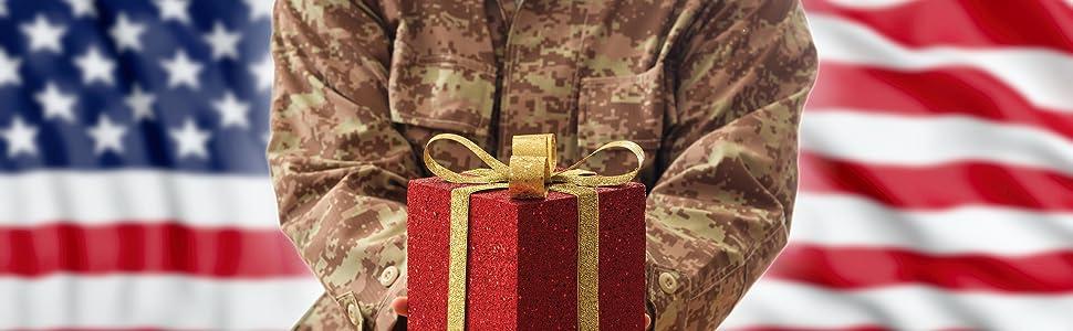 Present Gift Military Army Air Force Navy Marine Marines Bedroom Wife Grandma fire self carry mini