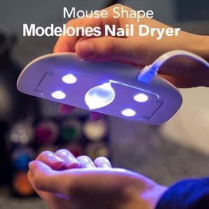 Nail Starter Kit with UV Light UV LED Nail Lamp, 6 PCS Color Gel Nail Polish Base Top Coat