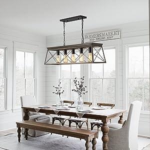 briarwood metal farmhouse chandelier light fixture