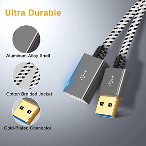 Braided USB 3.0 Extension Cable