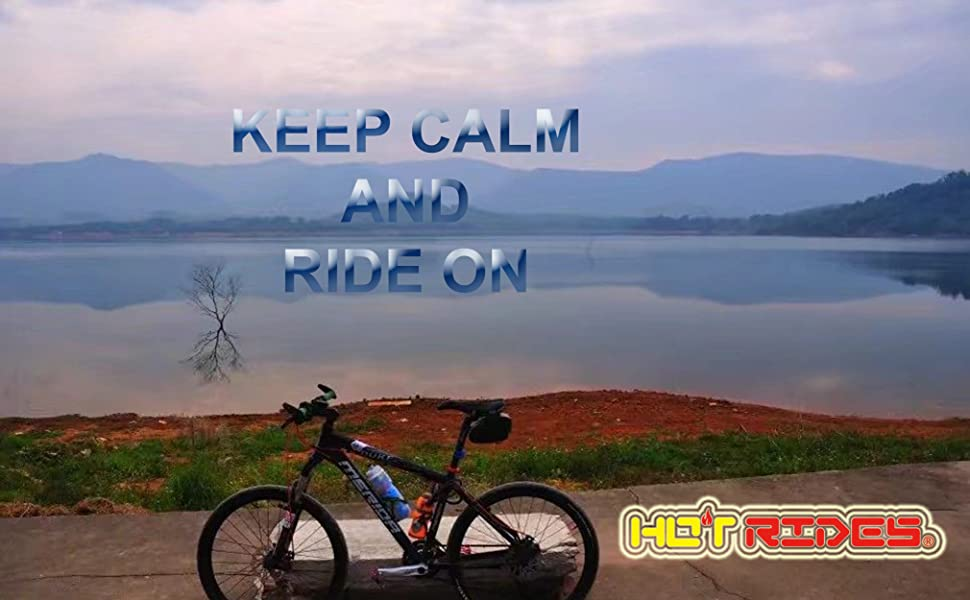 hot rides bike near a lake
