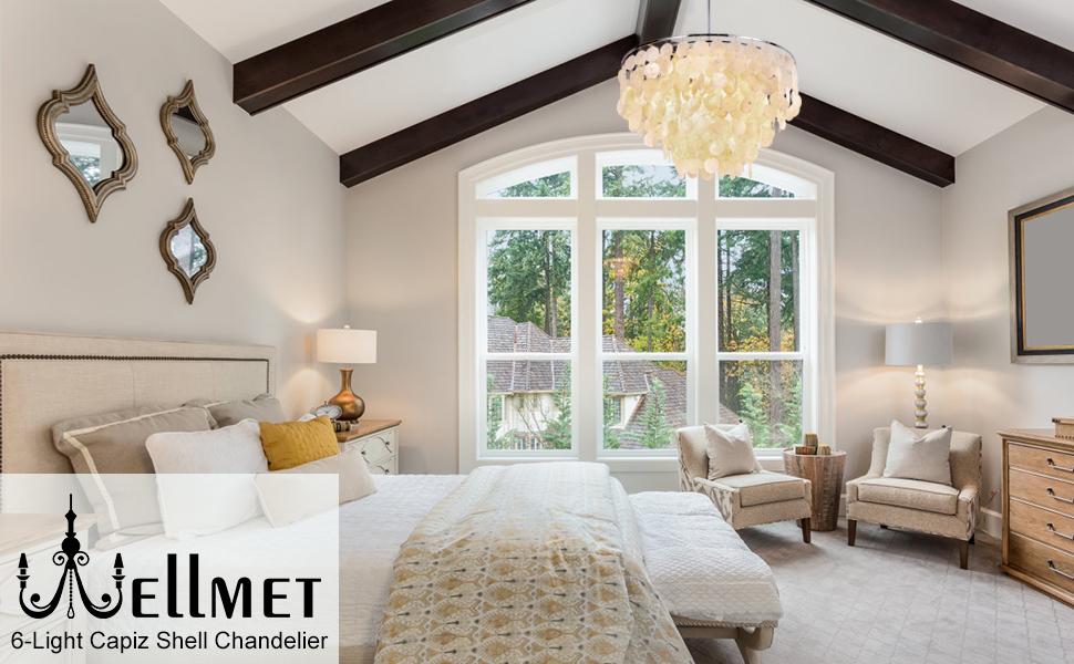 capiz shell chandelier for bedroom