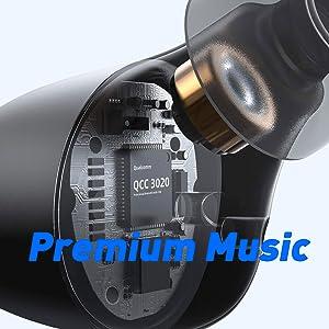 Earbuds bluetooth wireless tws aptx sport in-Ear headphones HiFi