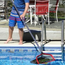 Skimming the surface of your pool just got a whole lot quicker