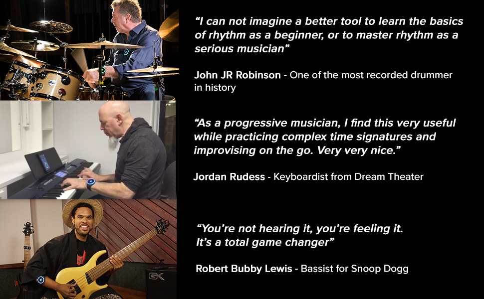 testimonials, vibrating metronome, Soundbrenner Pulse, learn rhythm, rhythm practice, master rhythm