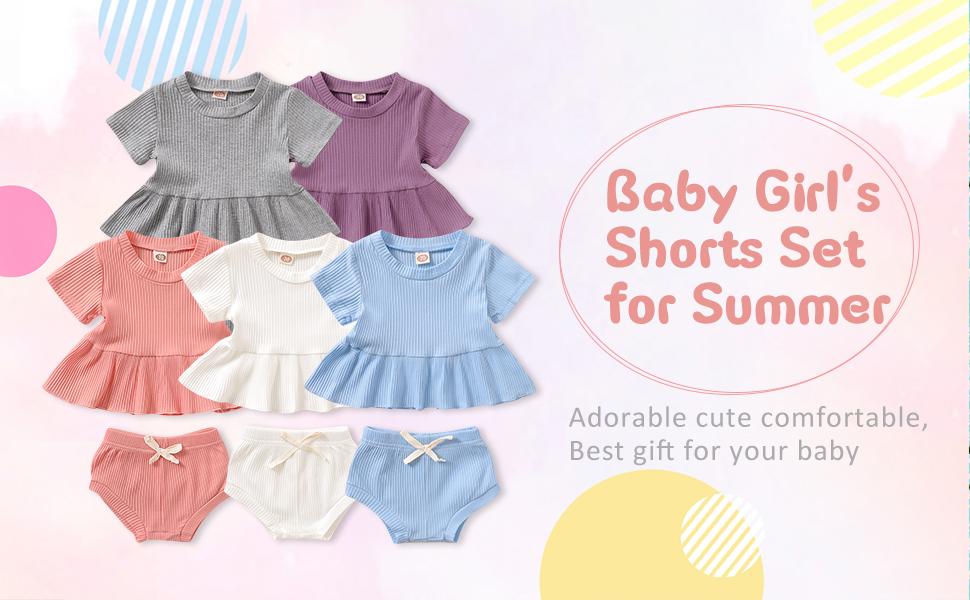 baby girl shorts set