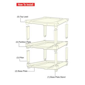unique design 5 layer drawer