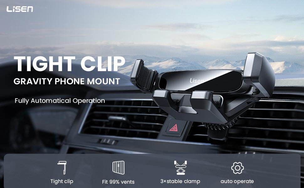 Gravity car phone holder mount
