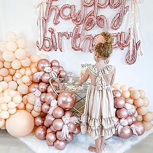 baby shower balloons,birthday balloons,rose gold balloons