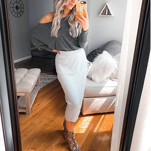 fall tops for women Off Shoulder Tops Casual Batwing Sleeve Shirts Tunic Oversized Pullover Sweater