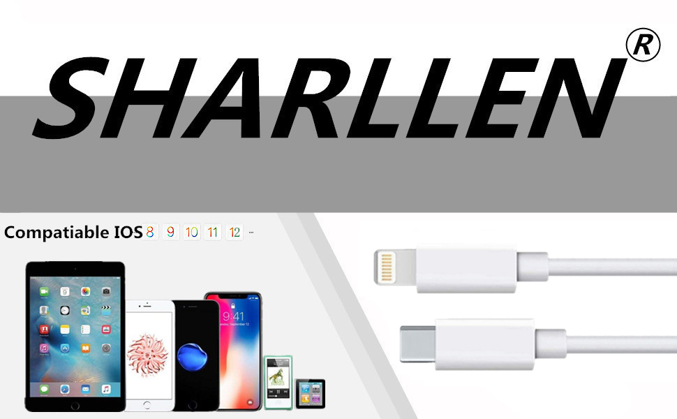 Apple MFi certified type usb c to lightning cable 5 pack