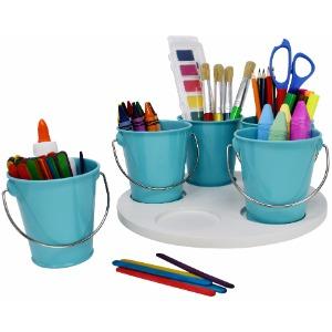 Craft Storage Turntable by Modern Retro - The Lazy Susan Art Craft Organizer Storage Bins - Organizers & Storage Containers for Crafts, Scissors, Kids ...
