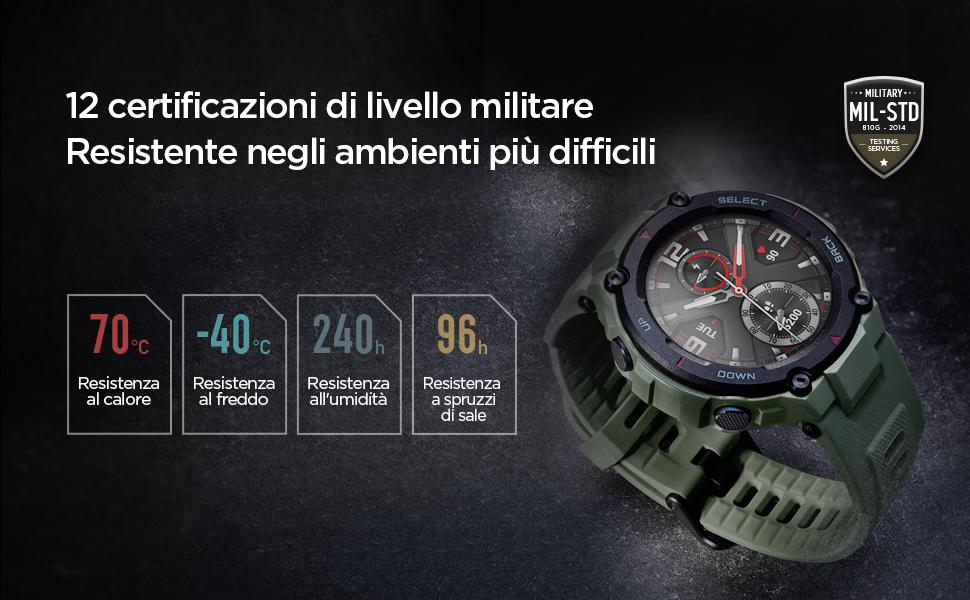 Amazfit T-Rex Smartwatch ha superato 12 certificazioni militari