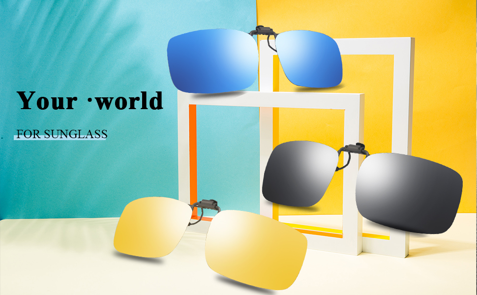 Fashion Clip on flip up sunglasses lens