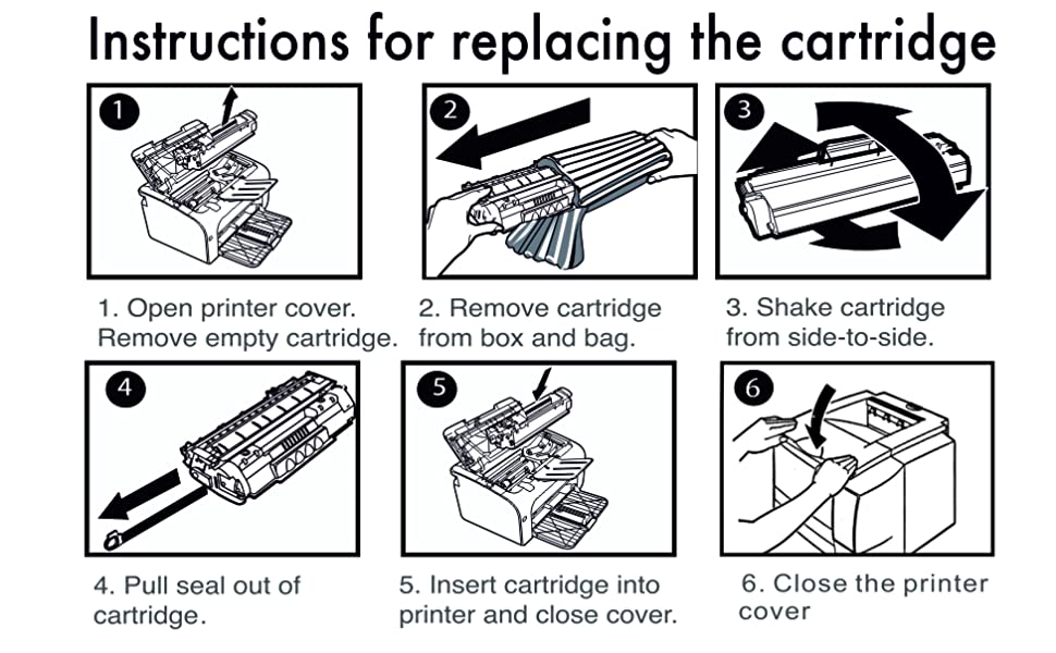 instructions for replace ijet toner cartridge