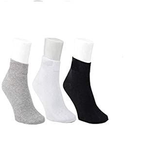 cotton socks for mens boys adult teenagers ankle length 12 pack 3 pack 6 pack 9 pack free size