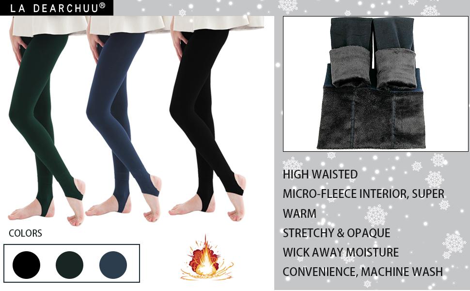 Winter Leggings Women Warm Thick Fleece Lined Thermal Stretchy Leggings Women