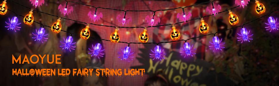 Luces de cadena de hadas de Halloween
