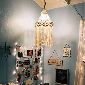 Macrame Bohemian Hanging Lantern Lamp