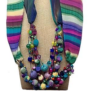Jewel Scarf Necklace
