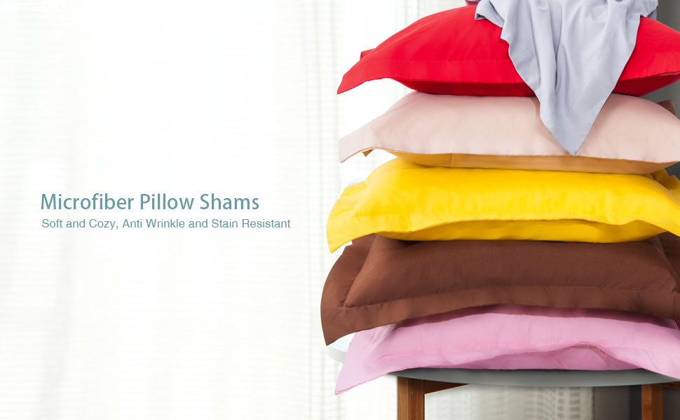 NTBAY MICROFIBER PILLOW SHAMS