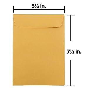 brown kraft manila open end envelope