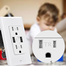 usb outlet wall charger receptacle