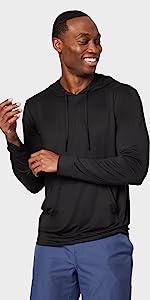 cool long sleeve hoodie tie