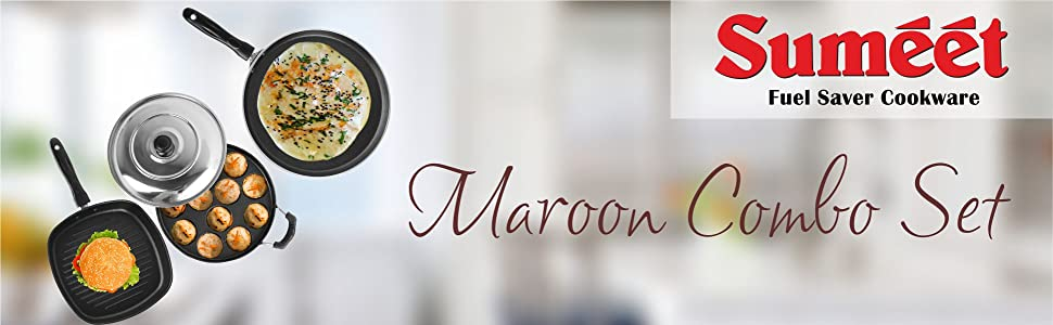 SUMEET MAROON COMBO SET