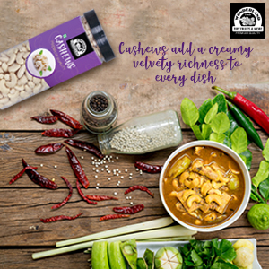 healthy snack dry fruits cashew nuts kaju indian curries rich creamy texture