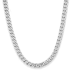 9mm Men's Flat Curb Chain